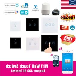 1/2/3 Gang 1 Way WIFI Smart Wall Light Touch Switch For Alex
