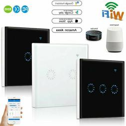 1/2/3 Gang Smart Home WiFi US Plug Panel Touch Switch Wall L
