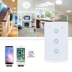 1/2/3 Gang Smart LED Light Dimmer WiFi Wall Touch Switch For