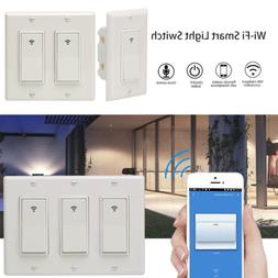 1/2/3 Gang Smart WiFi Wall Light Switch Modern Panel For Ama