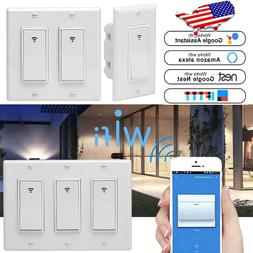 3pc 1/2/3 Gang Smart WiFi Wall Light Switch Modern Panel for