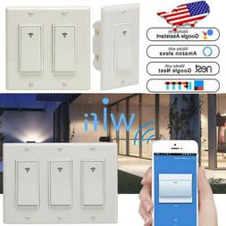 1/2/3 Gang WiFi Smart Switch Touch LED Light Timer for Amazo