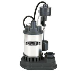 1/3 HP Submersible Sump Pump with Heavy Duty Vertical Float