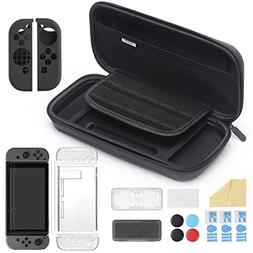 iAmer 11 in 1 Starter Kits for Nintendo Switch, Carrying Cas