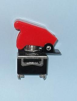 1 SPST On/Off Full Size Toggle Switch with RED Safety Cover