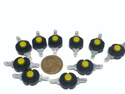10 Pieces Yellow  Flashlight Button Latching Tactile Switch