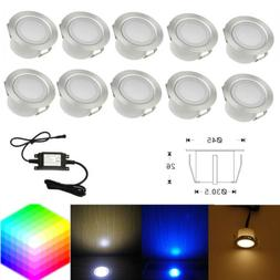 10pcs LED Deck Light Outdoor Stairs Step Ground Garden Lamp