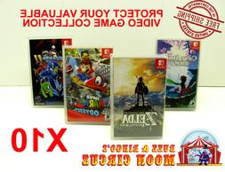 10x NINTENDO SWITCH CIB GAME BOX - CLEAR PROTECTIVE BOX PROT