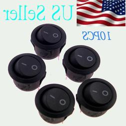 10X ROCKER SWITCHES 12V ROUND TOGGLE ON OFF 12 VOLT CAR SNAP