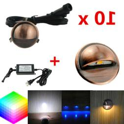 10X35mm LED Deck Stair Recessed Light Low Voltage Yard Lamp+