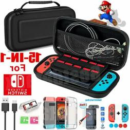 11 in 1 Accessories Kit Carrying Case for Nintendo Switch,Sc