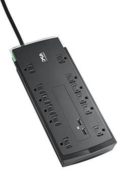 APC 12-Outlet Surge Protector Power Strip with USB Charging