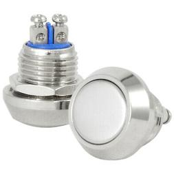 12mm Metal Boat Horn Momentary Push Button Stainless Steel S