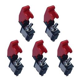 E Support 12V 20A Red Cover Rocker Toggle Switch SPST ON/OFF