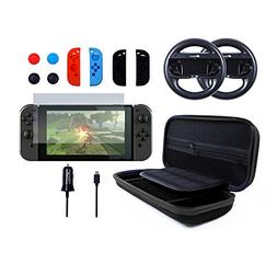 Pegly 13-1 Black Accessories Kit For Nintendo Switch, Includ
