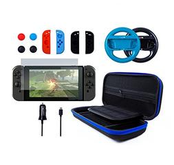 Pegly 13-1 Blue Accessories Kit For Nintendo Switch, Includi