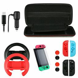 13 in 1 Charger Case Glass Bundle Kit Accessories for Ninten