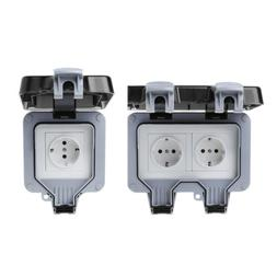 13A Outdoor Wall Switch Socket IP66 waterproof &Dust Proof P