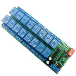 16CH 12V Modbus RTU RS485 Relay Module Switch Board for PLC