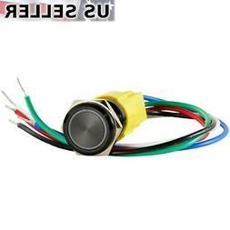 16mm 12V LED Momentary Push Button Starter Switch Boat Horn