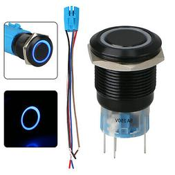 19mm 5Pin Momentary Push Button Switch On/Off Socket Plug w/