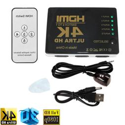 1x 3D 4K HDMI 5in 1out Switch Splitter TV Switcher Box HD fo