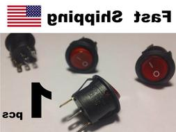 1x Universal Replacement ON-OFF SPST Round Rocker Switch 10A