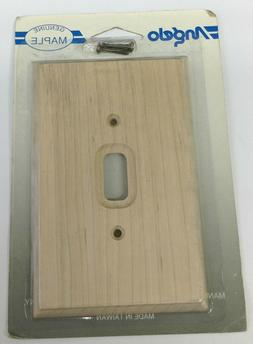 Angelo 74373 Toggle Switch Genuine Wood Wall Plate Cover 5-