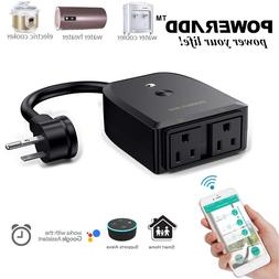 2 Outlet outdoor Smart Wi-Fi Plug Socket Switch waterproof