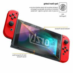 2-Pack Orzly Tempered Glass Screen Protector For Nintendo Sw