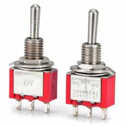 2 Pcs AC SPDT On/Off/ 3 Position Momentary Toggle Switch AC2