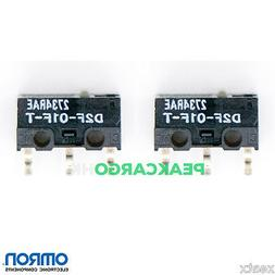 2 PCS OMRON D2F-01F-T Ultra Subminiature Switches RAZER Logi