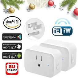2 WiFi Smart Plug Power Switch Outlet Remote Control For Ale