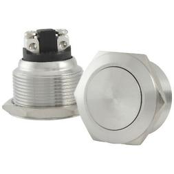 22mm Starter Switch / Boat Horn Momentary Push Button Stainl
