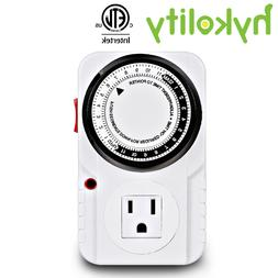 24-Hour Indoor Plug-In outlet Timer Switch for ON/OFF Light