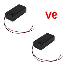 2x 9V Battery Box with On / Off Switch 9 volt Holder with Po