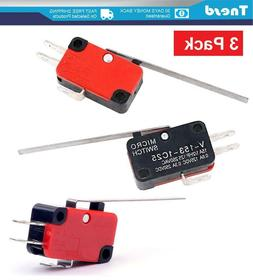 2x Limit Switch Long Straight Hinge Lever Type SPDT Micro Sw