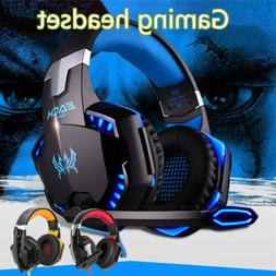 3.5mm Gaming Headset LED Headphones Stereo Surround for PC P