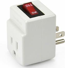 BindMaster 3 Prong Grounded Single Port Power Adapter for Ou