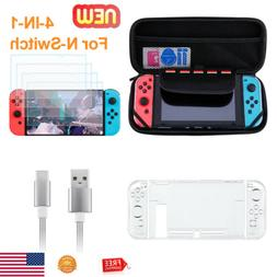 4 in 1 7pc Accessories Kit For Nintendo Switch Bundle kit w/