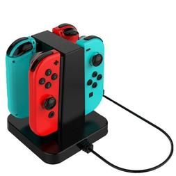 4 In 1 Controller Charger Stand Charging Dock for Nintendo S