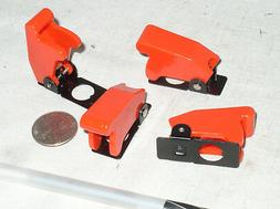 4 NEW RED TOGGLE SWITCH FLIP SAFETY COVER GUARD GUARDS MILIT