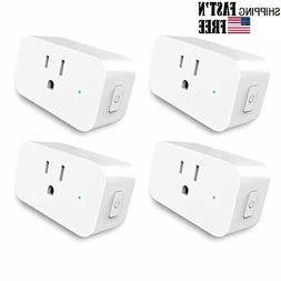 4 pack WiFi Plug in Switch Compatible With Amazon Alexa and