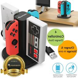 4 Port Controller Charger Charging Dock Station for Nintendo