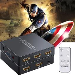 4 Port HDMI Switcher Hub 4 in 1 out 4K 3D PIP with IR Remote