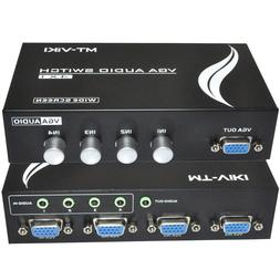4 Port VGA Video Audio KVM switch Switcher Box Selector 4 in