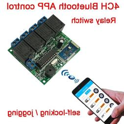 4CH phone APP Bluetooth control relay switch module wireless