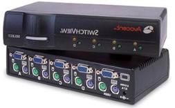 4port Cybex Switchview KVM 1user PS2/ser for Pc - with 2-cab