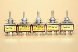 5 Pcs 3 Position On/Off/On Momentary 2P2T DPDT Toggle Switch