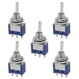 5 Pcs AC ON/OFF/ON SPDT 3 Position  Micro Mini Toggle Switch